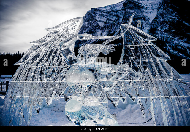 The Lake Louise Ice Magic Festival is the centerpiece of Banff National Park Snow Days Festival - Stock-Bilder