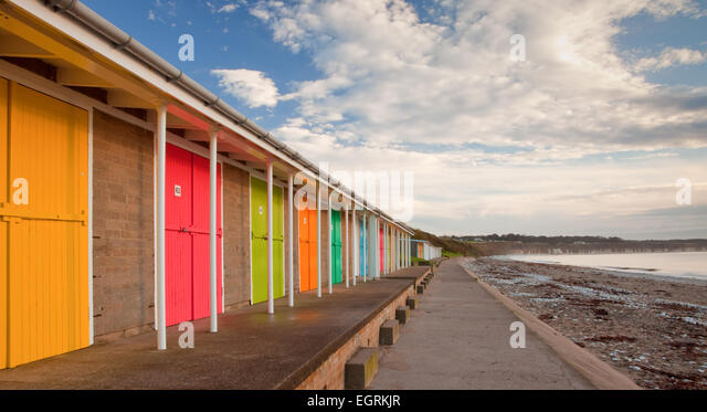 Beach Huts On Promenade Bridlington