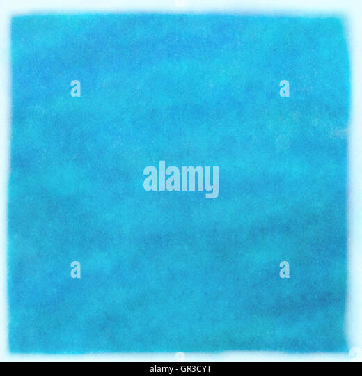 abstract blue Painting Texture with water color - Stock Image
