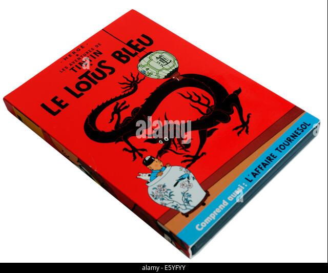 Tintin DVD Le Lotus Bleu (The Blue Lotus) - Stock Image