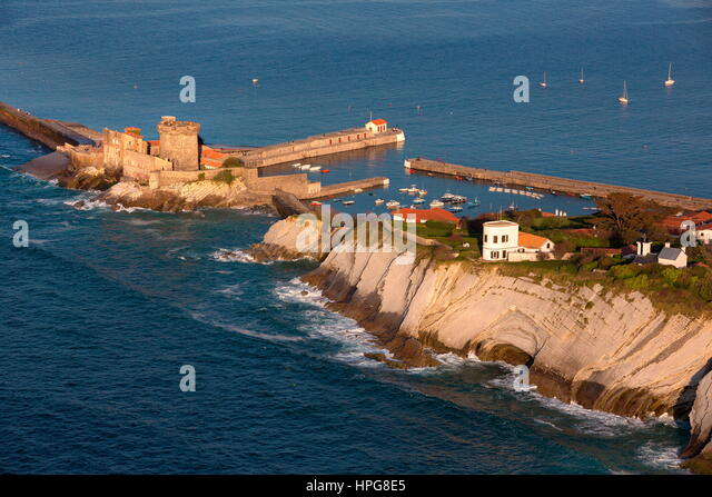 Aerial view fort socoa france stock photos aerial view - Fort de socoa ...