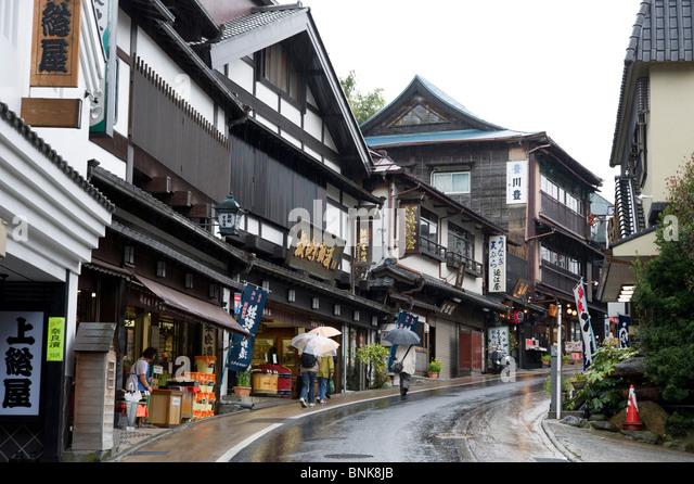 Street in Narita, Chiba, Japan - Stock Image