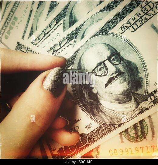 Hipster cash - Stock-Bilder