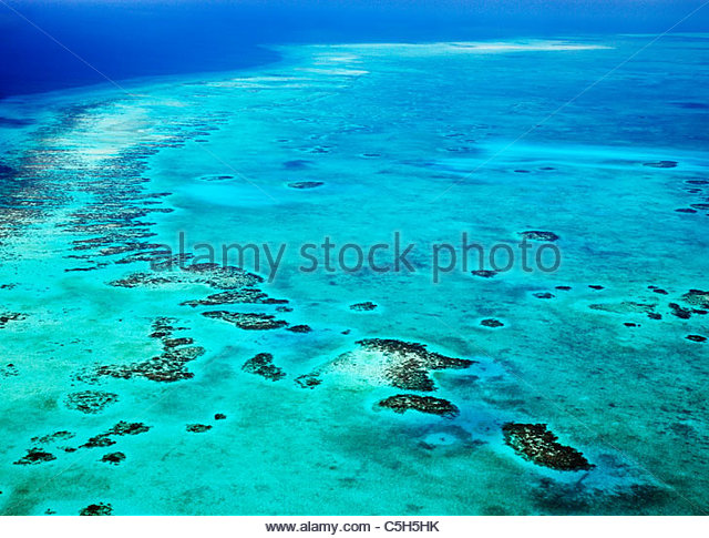 Belize barrier reef, Belize, World Heritage, Central South America - Stock Image