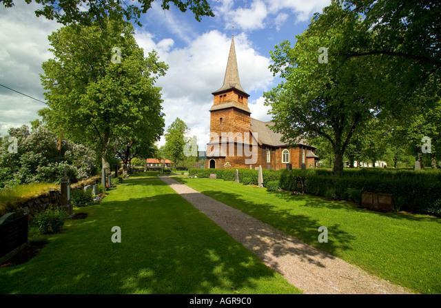 Ostmarks Kyrka near Torsby in Varmland County Sweden - Stock-Bilder