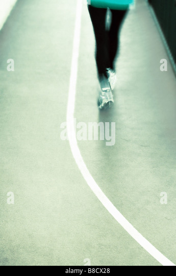 FV2022, Benjamin Rondel; Person running around track - Stock Image