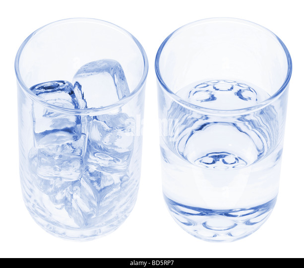 Glasses of Ice Water - Stock Image