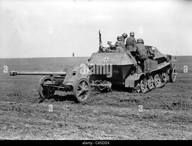 German Pak 38 in southern Russia - Stock Image