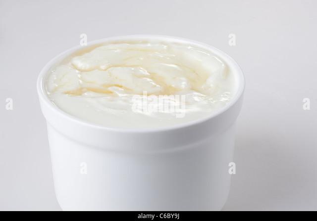 Honey and Yogurt - Stock Image