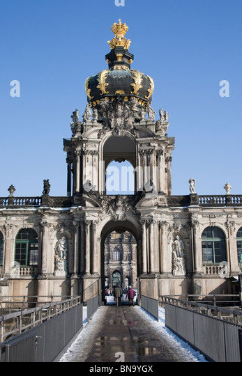 The Zwinger, a palace in Dresden, Germany. - Stock Image