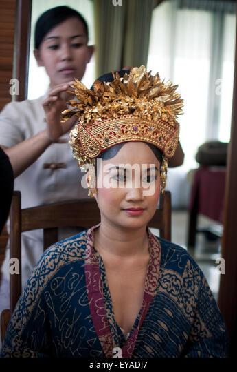 balinese royal wedding - Stock Image