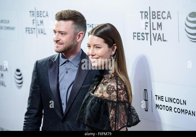 New York, NY, USA. 14th Apr, 2016. 14 April 2016 - New York, New York- Justin Timberlake, Jessica Biel. ''The - Stock Image