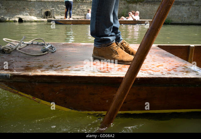 People enjoying punting on the River Cam, Cambridge - Stock Image