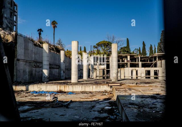 Ruin in the City of Sochi, Russia - Stock Image