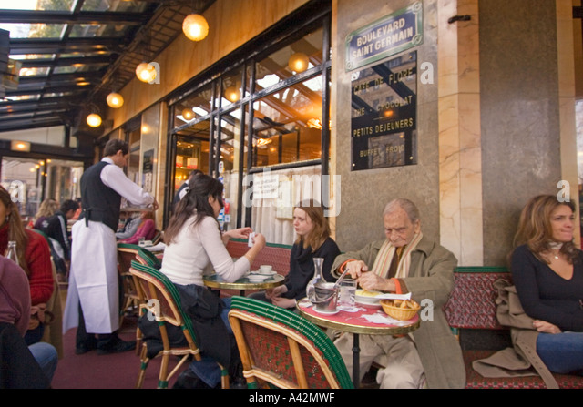 Paris St German Cafe de Flore - Stock Image