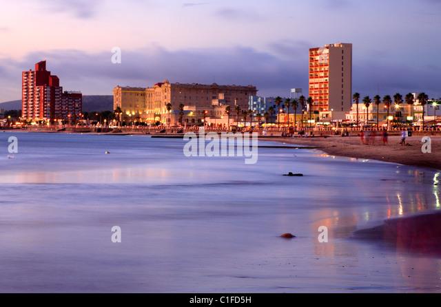 distant view of Piriapolis City and beach. Maldonado, Uruguay, south America - Stock Image
