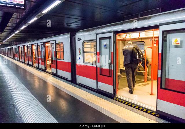 Milan Metro, Italy - Stock Image