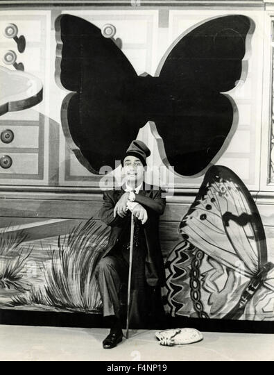 Spanish artist Salvador Dali in International Film Festival, Venice, Italy - Stock Image