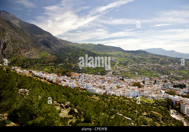 Chefchaouen (Chaouen), Rif Mountains, Morocco, North Africa, Africa - Stock Image