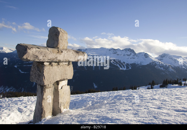 Inukchuk Whistler Mountain Whistler British Columbia Canada - Stock Image
