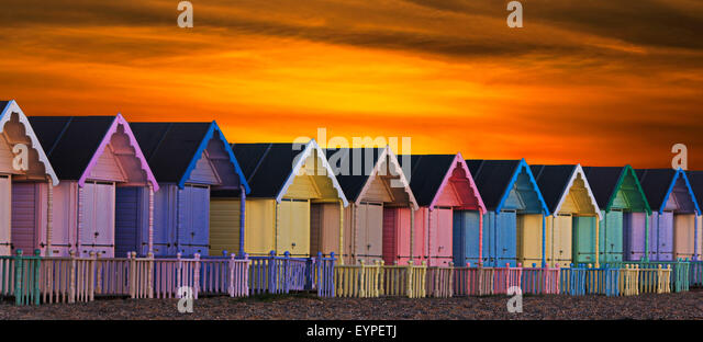 Beach Huts - Stock-Bilder