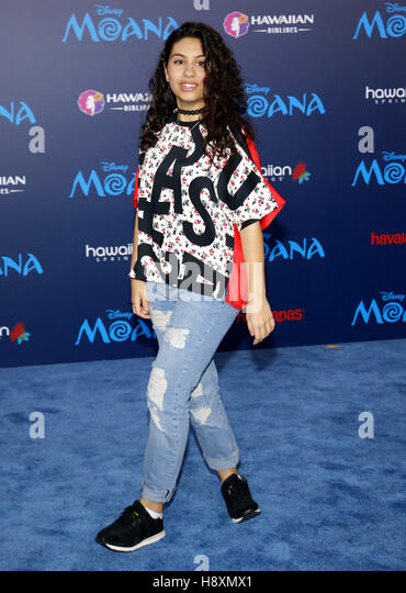 Alessia Cara at the AFI FEST 2016 Premiere of 'Moana' held at the El Capitan Theatre in Hollywood, USA on - Stock-Bilder