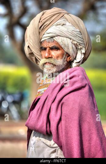 traditional man in Rajasthan, India - Stock-Bilder