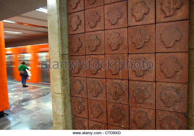 Mexico Mexico City DF D.F. Ciudad de México Federal District Distrito Federal Mexico City Metro subway Etiopia - Stock Image