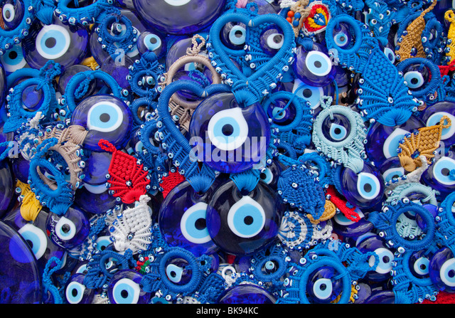 Evil eye souvenirs, Cappadocia, Turkey - Stock Image