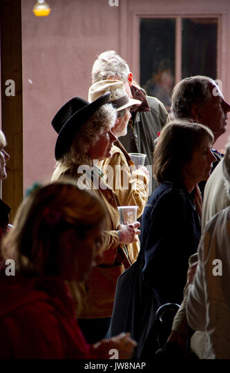 Audience at the Maverick music festival in Suffolk - Stock Image