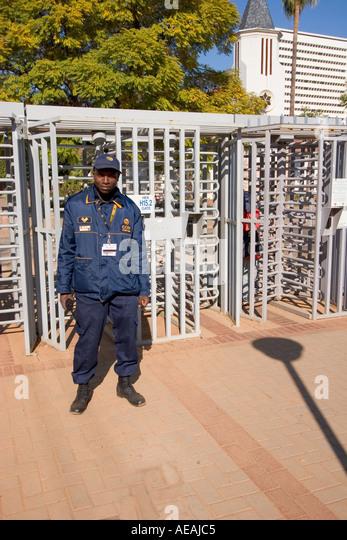 Security Guard Pretoria city - Stock Image