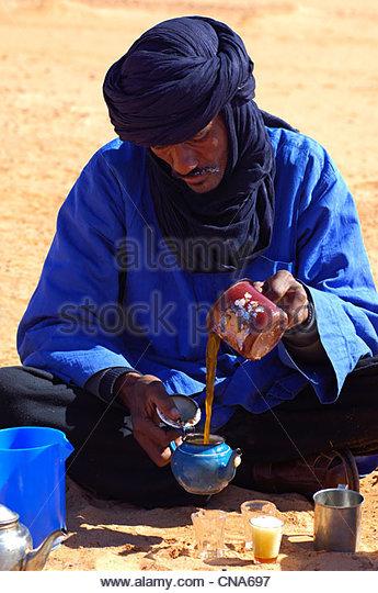 Arab tea ceremony - Stock-Bilder