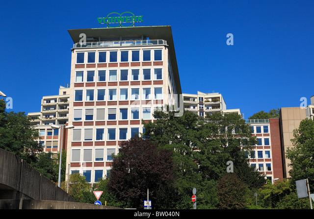 Verwaltungsgebaeude der Firma Vorwerk in Wuppertal-Barmen, Wupper, Bergisches Land, Nordrhein-Westfalen - Stock Image