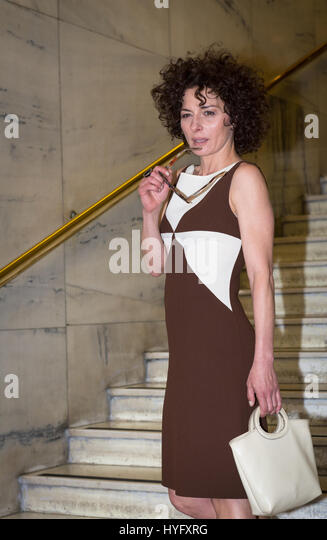 Roma, Italy. 03rd Apr, 2017. Lidia Vitale attends a photocall for 'The Startup'. Credit: Andrea Bracaglia/Pacific - Stock Image