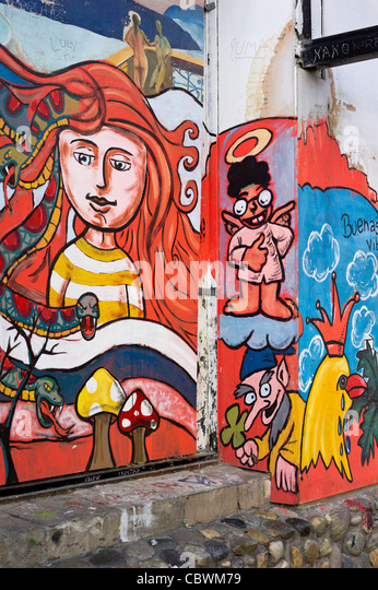 STREET ART USHUAIA ARGENTINA - Stock Image