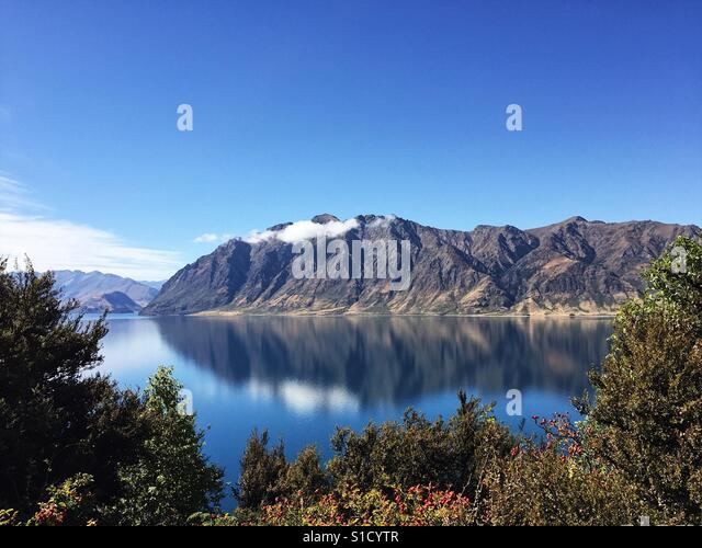 Lake Hawea - New Zealand - Stock Image