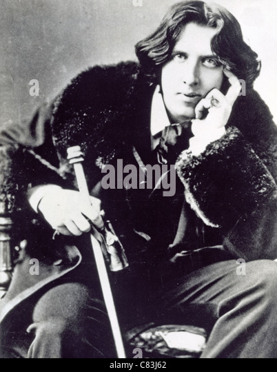 OSCAR WILDE (1854-1900) Irish writer and poet - Stock-Bilder