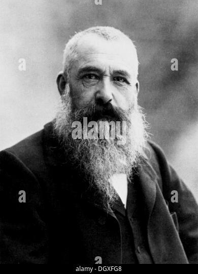 Claude Monet, the painter, 1899 - Stock Image