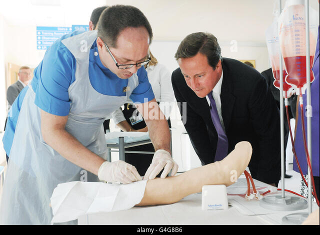 David Cameron visits Yorkshire - Stock Image