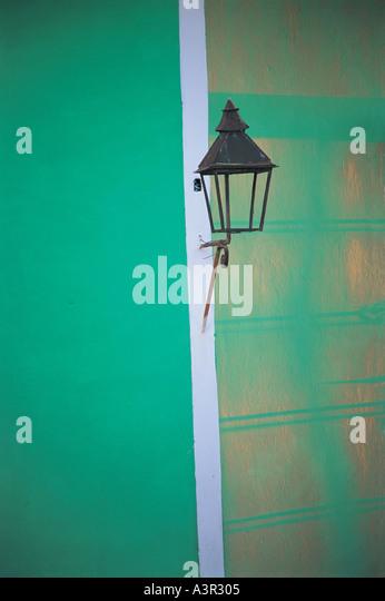 Street lamp in Trinidad Cuba - Stock Image