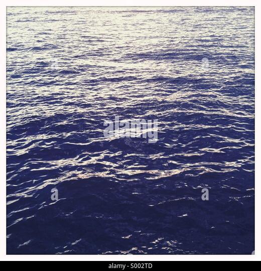 Empty water horizon - Stock Image
