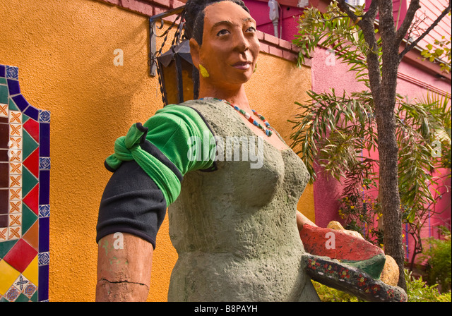 Historic Market Square San Antonio Texas tx statue sculpture Mexican woman peasant costume outdoor decoration art - Stock Image