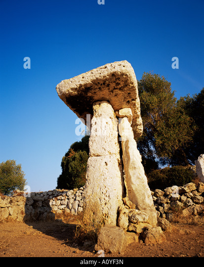 Taula of Torre Trencada Menorca Minorca Balearic Islands Spain Europe - Stock Image