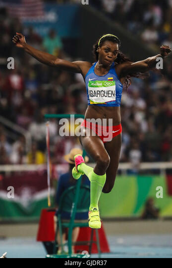 RIO DE JANEIRO, RJ - 14.08.2016: ATHLETICS RIO 2016 OLYMPICS - Caterine Ibargüen (COL) for the dispute of the - Stock-Bilder