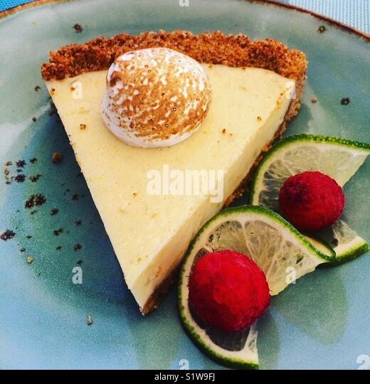 Key lime pie - Stock Image