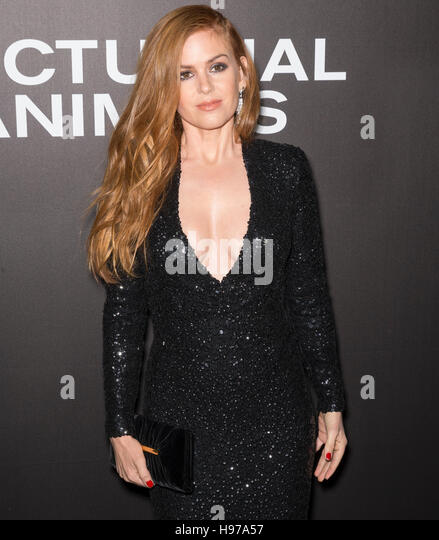 New York City, USA - November 17, 2016: Actress Isla Fisher attends the 'Nocturnal Animals' New York premiere - Stock Image