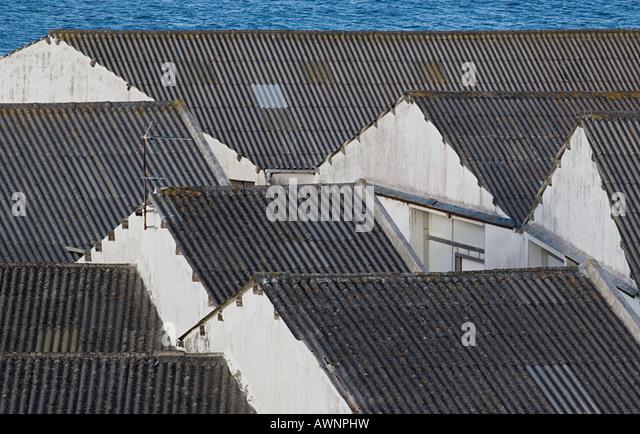 Corrugated iron roofs - Stock Image