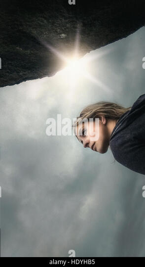 woman in nature - Stock Image