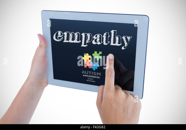 Empathy against autism awareness day - Stock Image