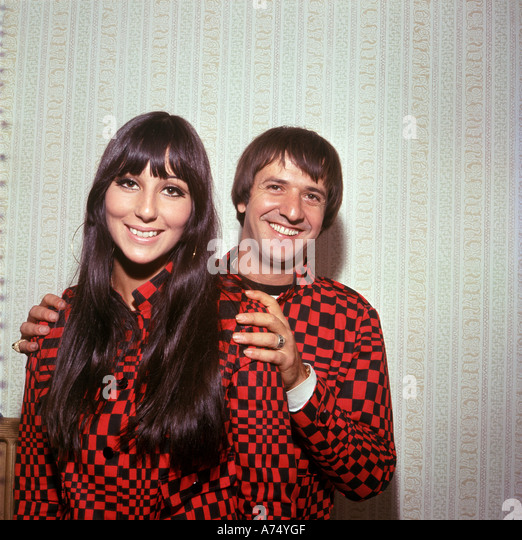 SONNY and CHER US music duo - Stock-Bilder